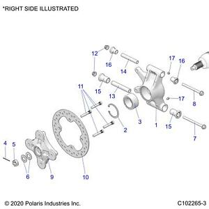 Polaris Right Carrier Bearing, Genuine OEM Part 5136690