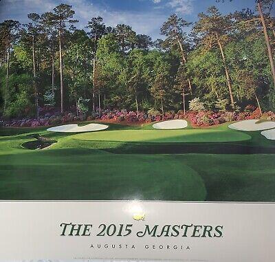 2015 masters poster augusta national golf 13th hole jordan spieth new pga ebay