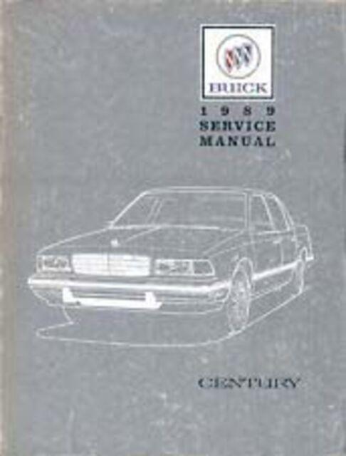 1989 Buick Century Shop Service Repair Manual Book Engine
