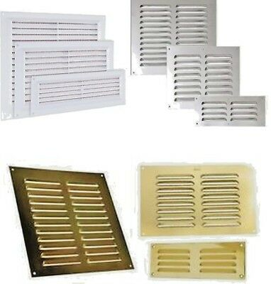 louvre air vent louvered ventilation ducting grille brick wall cover large small ebay