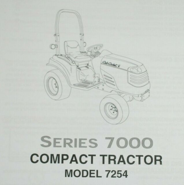 Cub Cadet 7254 Compact Tractor Owner's Manual for sale