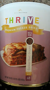 Thrive Freeze Dried Cooked Ground Beef #10 can 48 servings ...
