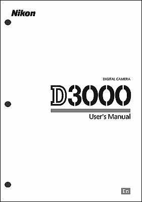 Nikon D3000 User Manual Guide Instruction Operator Manual
