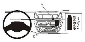 Brodit ProClip 853951 Montagekonsole für Citroen C4