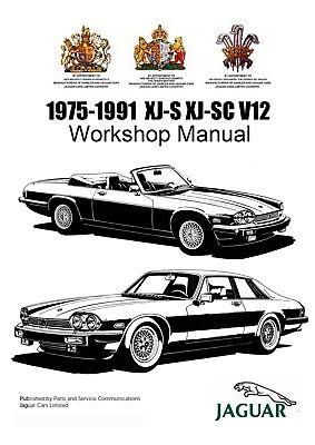 JAGUAR XJS XJ-S 1975-1991 OEM FACTORY WORKSHOP SERVICE