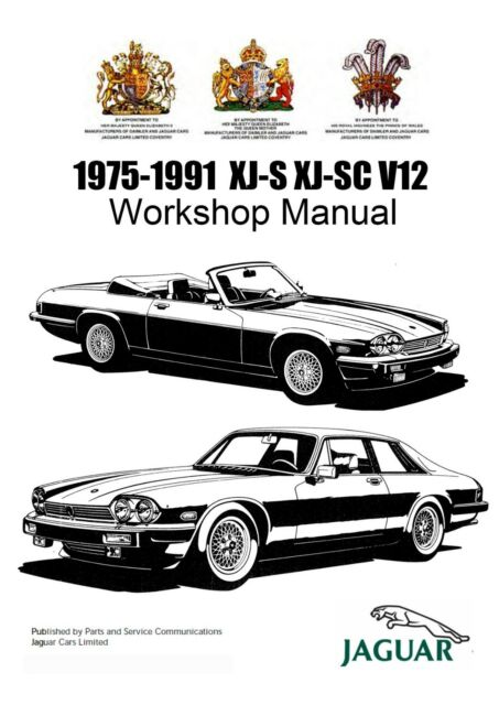 JAGUAR XJS XJ-S 1975-1991 OEM FACTORY WORKSHOP SERVICE