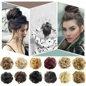 Curly Messy Bun Hair Piece Scrunchie Updo Hair Extensions Real