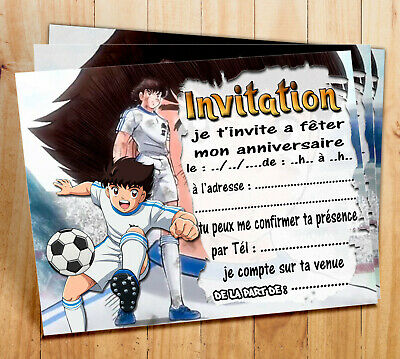 cartes invitation anniversaire olive et tom tsubasa par 6 ou 12 ebay