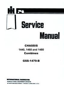 International Harvester 1440 1460 1480 Combine Chassis
