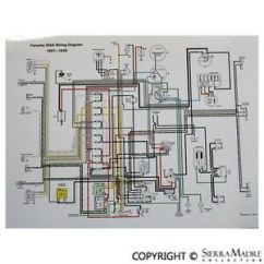 Porsche Wiring Diagram Electrical Nz 356 Full Color Late 1957 1959 356a T2 Ebayimage Is Loading
