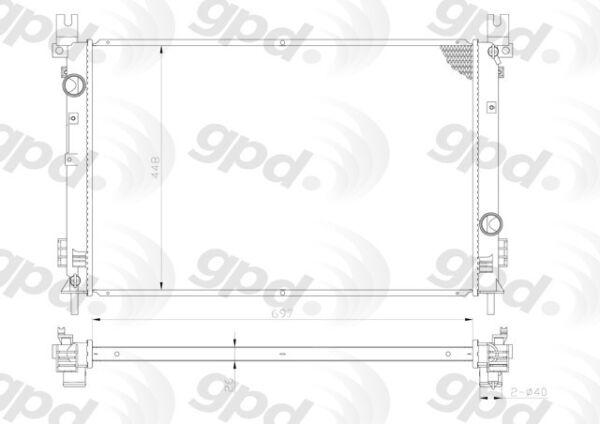 Radiator Global 2702C fits 04-06 Chrysler Pacifica for