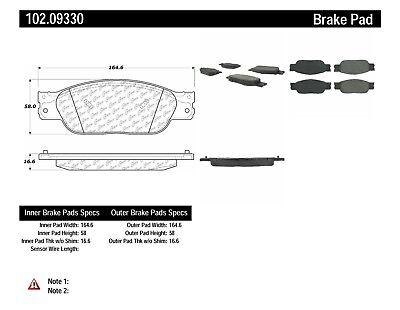 Disc Brake Pad Set fits 2003-2005 Jaguar S-Type Vanden