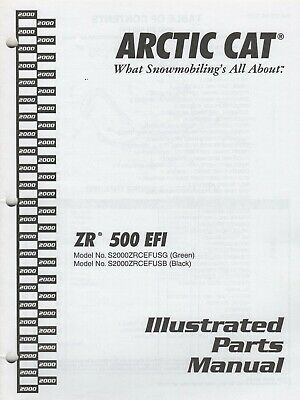 2000 ARCTIC CAT SNOWMOBILE ZR 500 EFI PARTS MANUAL 2256