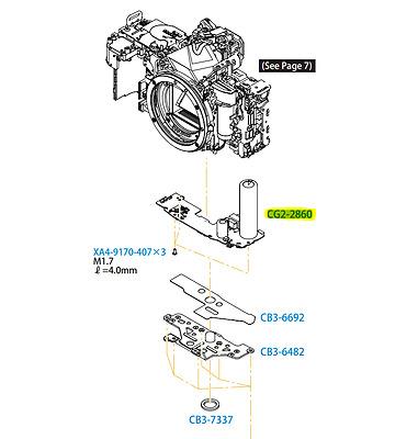 Canon Eos 60D Unten Board Blitz Strom Pcb Montage Ersatz