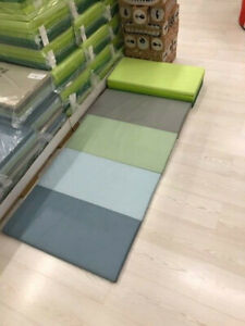 details sur ikea plufsig tapis gymnastique tapis pliable 78x185 cm turn jeux de coffre moquette vert nouveau afficher le titre d origine