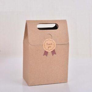 details about 10pcs lace candy box kraft paper pillow gift box wedding party favors bag