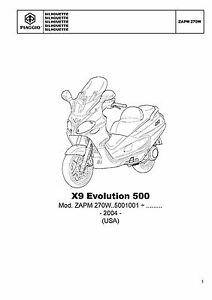 Piaggio Vespa parts manual book 2004 X9 Evolution 500 USA