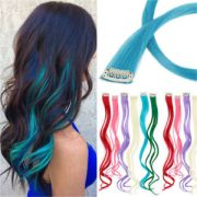 5pc curly synthetic clip-in multi