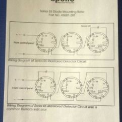 Apollo 65 Base Wiring Diagram Direct Online Starter 10 X Series Smoke Heat Detector With Head Removal Diode 45681 201 Ebay