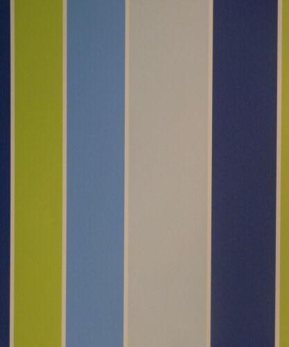 papier peint tiny tots chambre enfant papier peint g45100 bloc rayures vert bleu gris 3 58 euros m togao