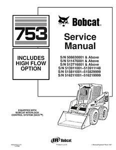 BEST Bobcat 753 High Flow Skid Steer Loader Workshop