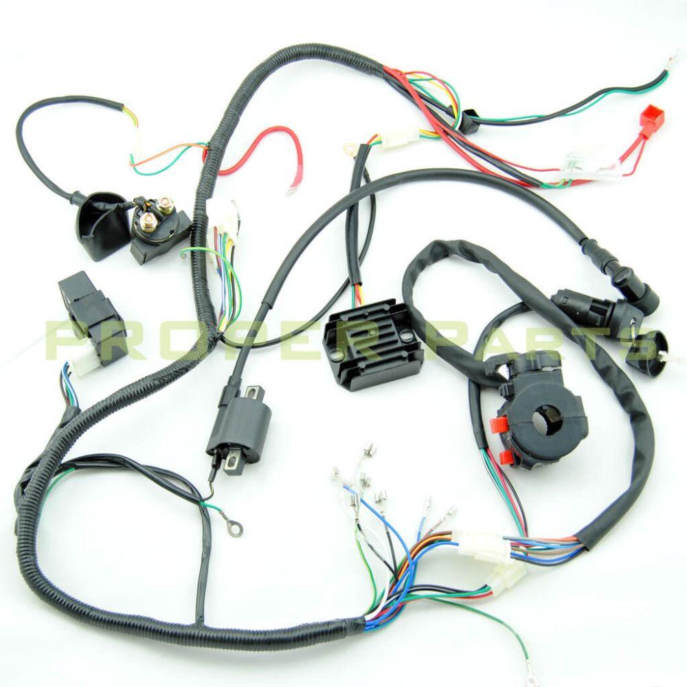 medium resolution of complete electrics atv quad 200cc 250cc cdi coil wiring harness lifan 125 wiring harness lifan wiring harness