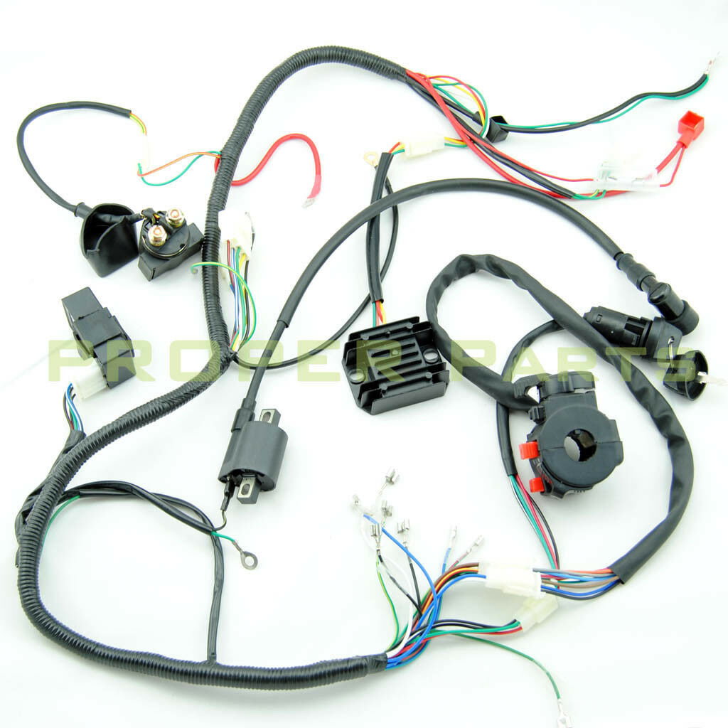 hight resolution of complete electrics atv quad 200cc 250cc cdi coil wiring harness lifan 125 wiring harness lifan wiring harness