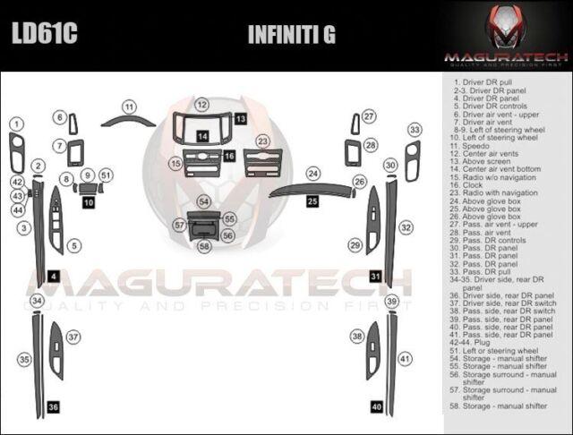Fits Infiniti G35 Sedan 2007-2008 Manual Trans Large
