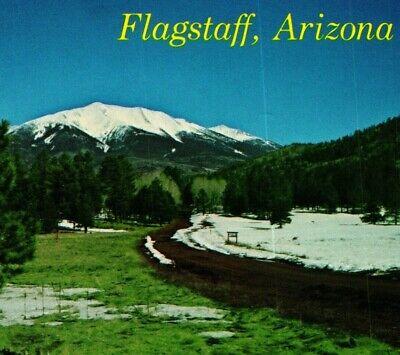 Flagstaff, arizona is sits at the base of the san francisco peaks, surrounded by the largest ponderosa pine stand on earth. Flagstaff Az Arizona San Francisco Peaks Unused Unp Vtg Chrome Postcard Ebay