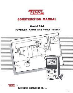 EICO Model 944 Flyby Transformer and Yoke Tester
