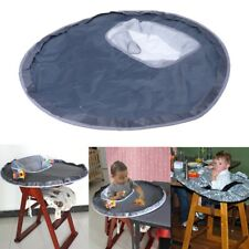 high chair table cover wicker and chairs infant baby mats waterproof feeding eating folding mat cushion round infants pad