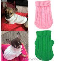 XXXS/XXS/XS Knitted Dog Sweater Cat Puppy Clothes Jumper ...
