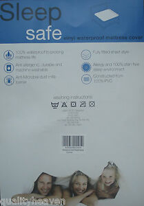 Image Is Loading Heavy Duty Waterproof Mattress Cover Plastic Bed Protector