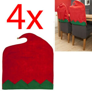 christmas elf chair covers writing desk and set of 4 cover felt xmas dinner table decor image is loading