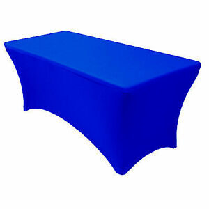 royal blue chair covers and bows llantrisant your spandex 6 ft rectangular stretch tablecloth linens