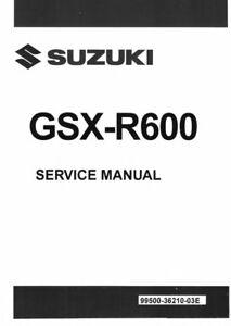 Suzuki 2011 2012 2013 2014 2015 GSX-R600 GSXR 600 GSX-R