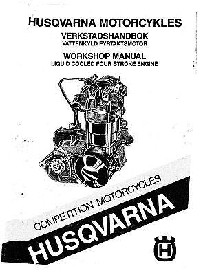 Husqvarna Engine workshop service manual 1987 4 Stroke