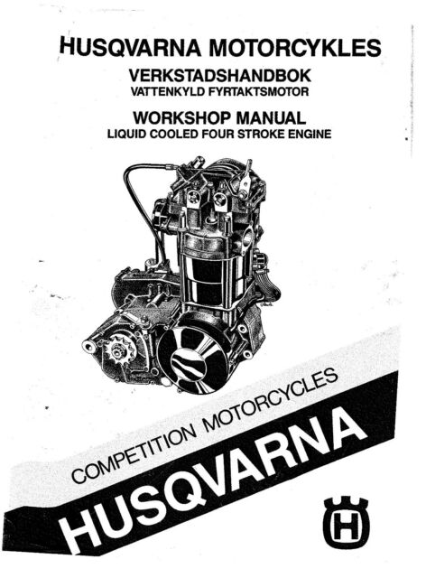 Husqvarna Engine workshop service manual 1987 4 Stroke