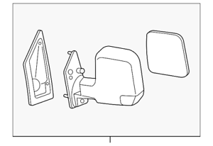 OEM GM Exterior Driver Side View Manual Mirror 03-07