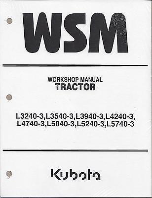 Kubota L3240-3 L3540-3 L3940-3 L4240-3 L4740-3 L5240