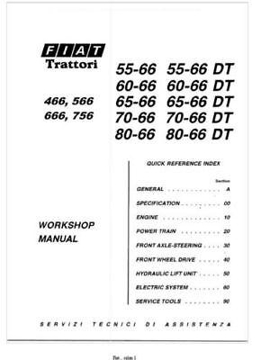 Fiat Tractor 466,566,666,766,55-66,60-66,65-66,70-66,80-66