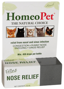 HomeoPet Feline Cat Nose Relief aid runny nose watery eyes ...