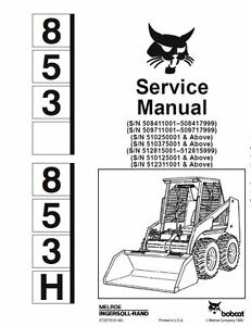 BOBCAT 853 Service Repair Manual SKID STEER Engine