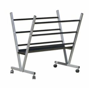 details about metal art print rack holder rolling poster display prints canvas gallery store