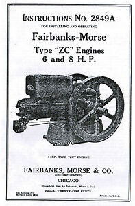 Fairbanks Morse Type Z ZC 6 8hp Gas Engine Book Manual Hit