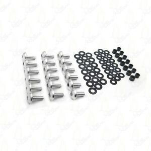 Silver Motorcycle Normal Fairing Bolts For 2004 2005