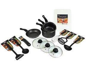 kitchen utensils set holder student starter 14 pc cooking tools pans image is loading