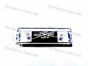 Sky High Car Audio Set Screw ANL Fuse Holder WHITE Logo