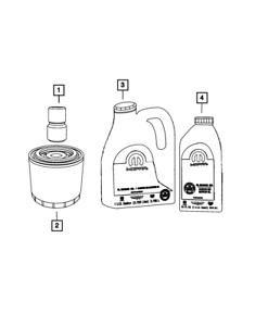 Genuine 2007-20 DODGE CHRYSLER JEEP Engine Oil Filter