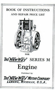 New Way Gas Engine series M instruction book Manual Hit